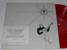 WOODY GUTHRIE CISCO HOUSTON Red Vinyl MONO DG 1952 Stinson SLP 53