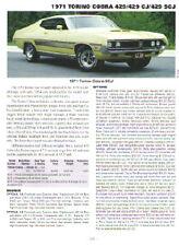 1971 Ford Torino Cobra + Torino SCJ 429 Article - Must See !!