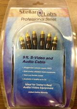 Stellar Labs SLP Series S-Video and Audio Cables 24-8833 9 ft.