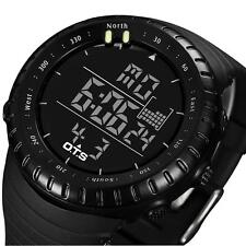 Men Sport Stainless Steel LED Digital Date Quartz Analog Military Wrist Watch HK