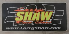 """1 pc Larry Shaw Race CarsRacing Stickers Decals Size 9.5"""" X 4.25"""""""