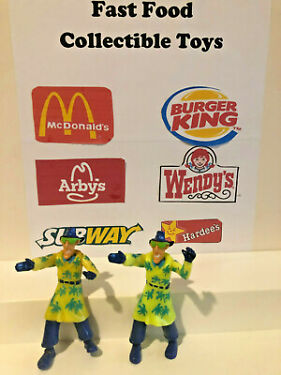 Burger King  Lot of 2 Kids Club Meal 1991 Inspector Gadget w ALOHA TRENCH COAT