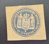 Siegelmarke Vignette Königlich Preussische Regierung zu Lüneburg (8063-3)