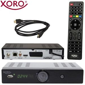 HD Sat Receiver Xoro HRS 8656 digital Satelliten Tuner mit USB HDMI LAN DVB-S2