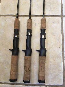 3 Shakespeare Pistol Grip Micro Series Graphite UL Casting Rods 4'6 Cork Handle