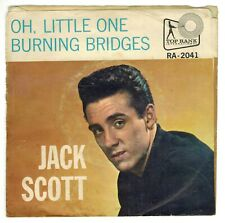 Jack Scott - Oh, Little One / Burning Bridges -  Picture Sleeve - 1960