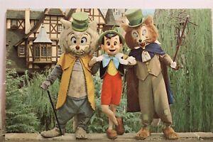 Walt Disney World Pinocchio Foulfellow Gidon Fantasyland Postcard Old Vintage PC