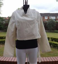 Women Wear Sarah Pacini beige cotton,  linen  jacket SP 7174 BNWT