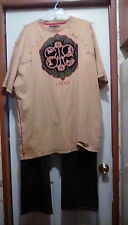 COOGI - Gold Embellished Outfit - JEANS 38x34 & Matching T-SHIRT size 4XL