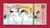 """ATLANTIC FOREST 41 AVES DOLLARS 2019 /""""VIOLACEOUS EUPHONIA/"""" LOW SERIAL # UNC NOTE"""