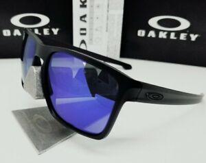 "Custom OAKLEY matte black ""SLIVER XL"" + GALAXY blue mirror POLARIZED sunglasses"