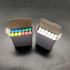 12x Water-soluble Dustless Chalk Chalkboard Crayons School Office Supplies