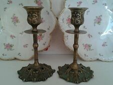 Brass Antique Style Candelabras Light Holders