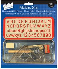Maths Set & Stationary Carry Case With Compass & Accessories -All in One -  6822