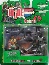 GI JOE VS COBRA-BLISTER 2 PERSONAGGI-MISURA CM. 9-ORIGINALE HASBRO