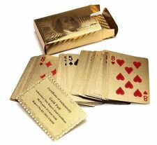 Five Star Inc 24K Gold Foil Plated Poker Playing Cards Deck Collection