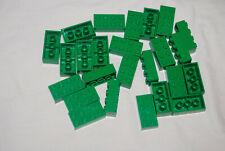 D Lego Lot 25 Green 2 x 4 Bricks 3001 3724 5771 21118 21132 70010
