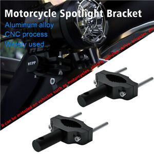 2× Universal Modified Motorcycle Fork Tube Headlight/ Spotlight Mounting Bracket