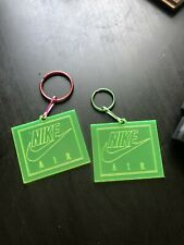 2x Nike Jordan Neon Hangtag Keychain Shoe Tag Acrylic Jumpman 2 For1 FREESHIPING