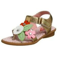 OILILY GIRLS SANDALS SHOES LEATHER GOLD FLOWERS SIZE 25 EU RARE NEW