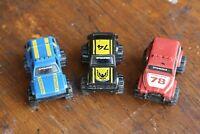 Vintage 1980's Mini Schaper Stompers 4x4 Trucks old toy lot of 3 jeep