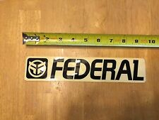 "Federal Bikes BMX Decal - Sticker - Black - 9.5"" Cycles"