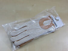 RIDING GLOVES HORKA - XL - CROCHET/LEATHER - CHAMPAGNE - EQUESTRIAN - BNWT