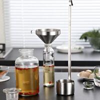 Wine Dipper 500ml Spoon Sauce Ladle Long Handle 304 Stainless Steel w/Hook,