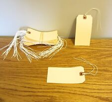 """125 AVERY DENNISON PRE STRUNG  #5 BLANK SHIPPING TAGS 4 3/4"""" BY 2 3/8"""" SCRAPBOOK"""