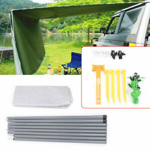 Foldable Outdoor Car Side Sunshade Awning Curtain Tent Canopy Camping Shelter