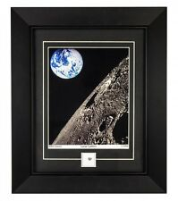Lunar Print Framed Photo with Real Moon Meteorite Specimen