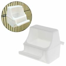 Bird Feeder Anti Splash Feeding Bowl Box Proof Cage Pigeon Plastic Drink Water