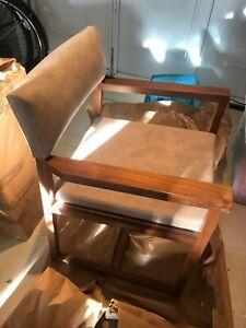 De la Espada dining chair solid walnut 80x56x54cm RRP £700