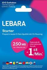 Lebara Prepaid Handy Triple SIM Karte 4G Internet Telekom EU Roaming
