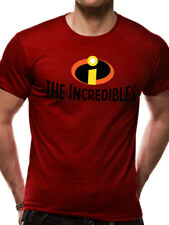 OFFICIAL DISNEY/ PIXAR - THE INCREDIBLES LOGO/ SYMBOL RED T-SHIRT (BRAND NEW)