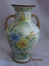 "Noritake Nippon Hand Painted 6"" Vase Mark 47"