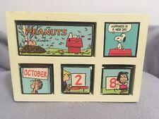 peanuts perpetual calendar