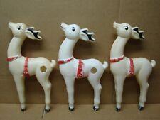 Dapol 3 Christmas Blow Mold Santa Reindeer Deer Decoration