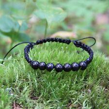 Shungite string bracelet emf protection handmade jewelry root chakra stone SB71