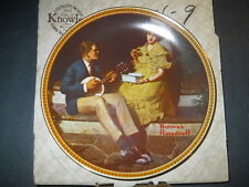 Norman Rockwell Pondering On The Porch Knowles Collector'S Plate W/Box 4578Q