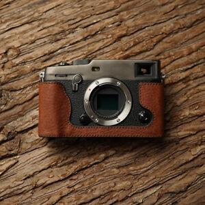 Genuine Leather Half Case Cover For Fujifilm X-PRO3 XPRO3 Camera Protector