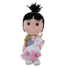 "Despicable Me Agnes with Unicorn Plush Toy Doll Large 18"" High Quality Rare"