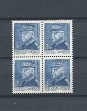 PRINCE LOUIS II - 1941 YT 232 bloc de 4 - 2 f. 50 bleu - TIMBRES NEUFS** LUXE