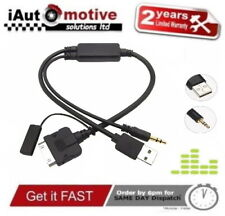 Bmw Mini iPod iPhone 4 Media Interface Y Cable USB AUX Adapter Audio Music Lead