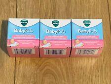 Vicks Baby Rub Cosmétique Hydratant et Apaisant confort 3 Boîte de 50 g exp 2022