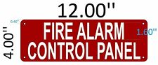FIRE ALARM CONTROL PANEL SIGN (Aluminium Reflective Signs, RED 4x12)