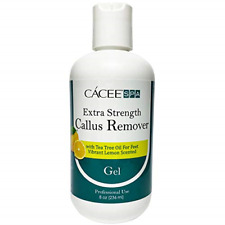Cacee Callus Remover for Feet 8oz, Gel Formula with Tea Tree Oil & Lemon Scent,
