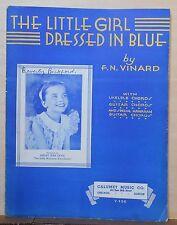 The Little Girl Dressed In Blue - 1935 sheet music - Shelby Jean Davis photo
