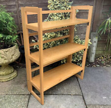 VINTAGE BEECH FOLDING BOOKCASE DISPLAY STAND