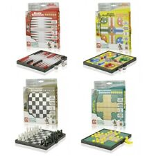 Magnet Reisespiele Backgammon, Schach, Solitaire Solitäre, Nicht Aufregen - Ludo